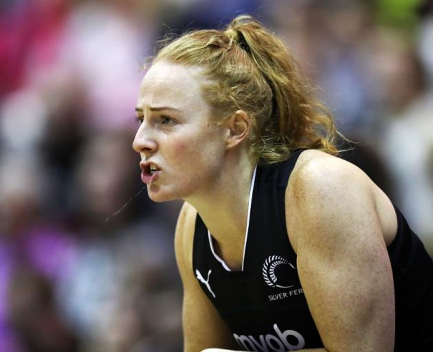 Sam Winders during her last stint with the Silver Ferns in 2019. Photo: Getty Images