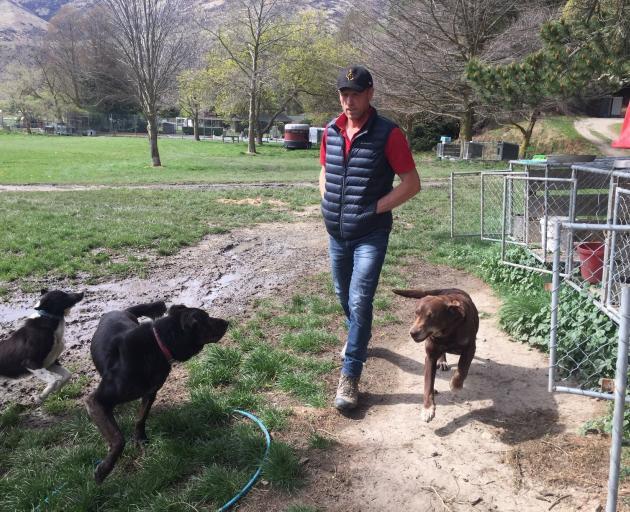 Hamish Mackay with his dogs. PHOTO: MARY-JO TOHILL