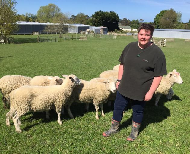 Telford student Sarah Hatcher is hoping to enter the sheep and deer-milking sector after she...