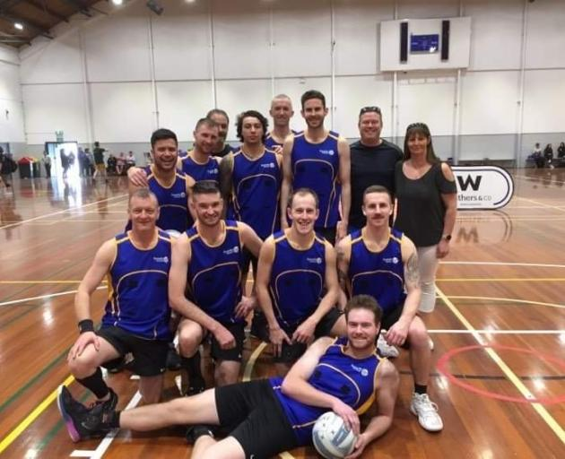 The Dunedin men's netball team competed in the South Island championship in Christchurch earlier...
