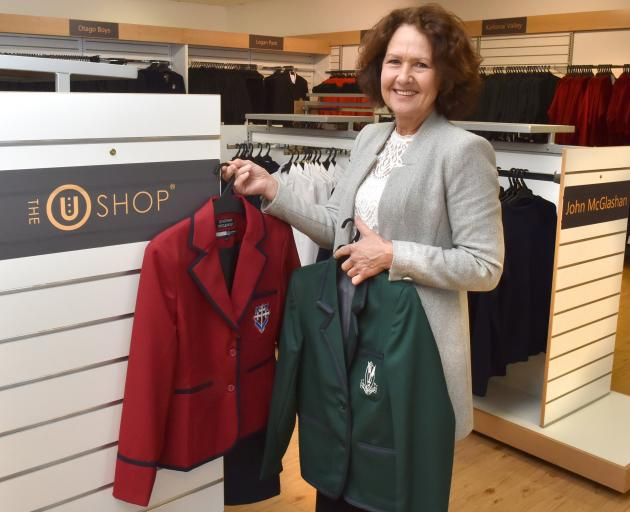 Red or green? Uniform Group director Adele Gordon inside the new U Shop that opens on Monday....