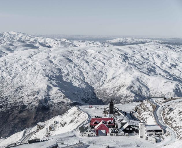 Cardrona Alpine Ski Resort is blanketed in snow ahead of Friday's opening. PHOTO: SUPPLIED