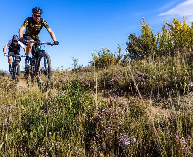 Mitch Stringer (left) and James Williamson try out some of Alexandra's many trails in preparation...