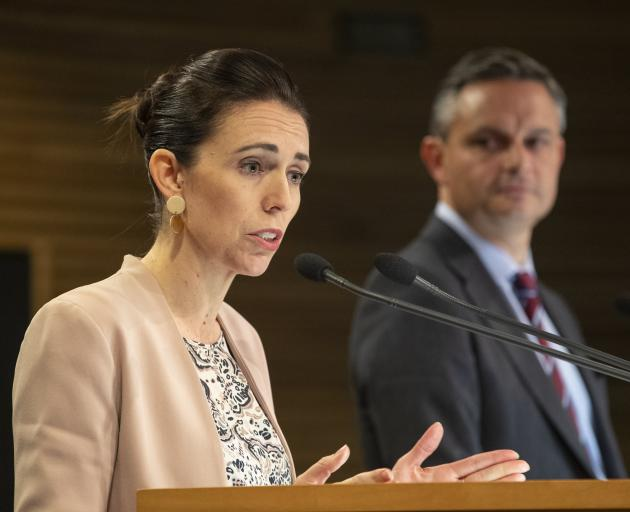 Labour leading, Greens in the background. PHOTO: THE NEW ZEALAND HERALD