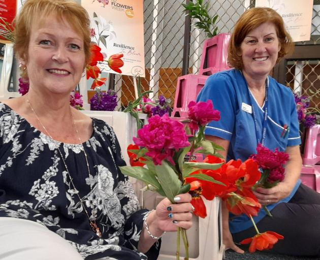 Ashburton Hospital administration Heather Lamb and duty nurse manager Heather Cullimore with...