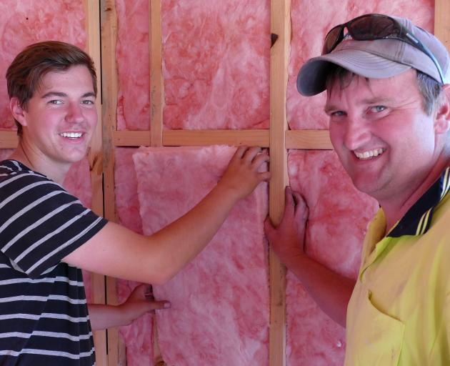 Previously solo Balclutha builder Hayden McElrea (right) says a new funding initiative overseen...