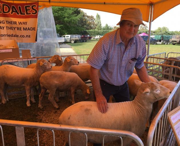 Southbridge farmer Gordon Gilbert won the New Zealand Corriedale Council's production ewe hogget...