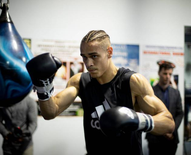 David Nyika at training. Photo: Dean Purcell / NZ Herald