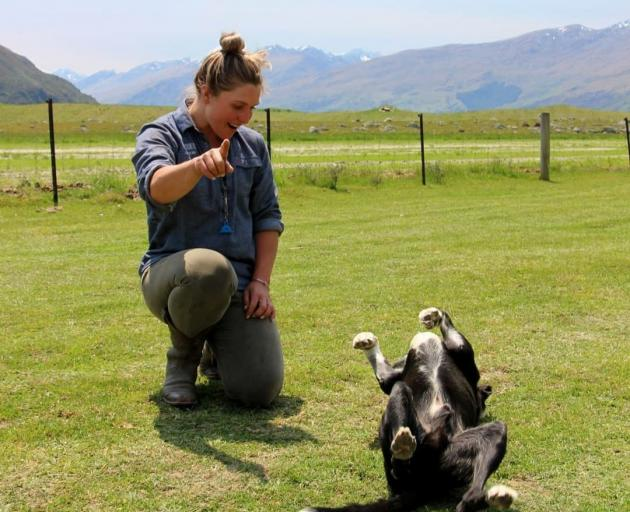 Laura Douglas and her dog, Lad. PHOTOS: SUPPLIED