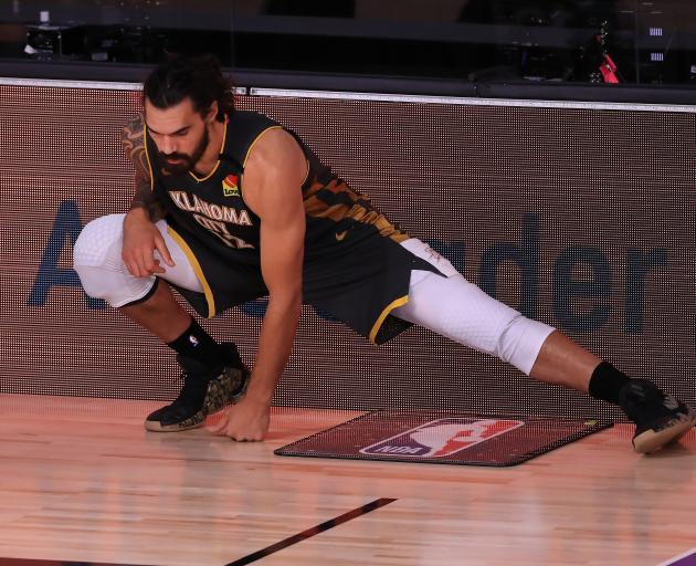 Steven Adams is getting ready for a move to the New Orleans Pelicans. Photo: Getty Images