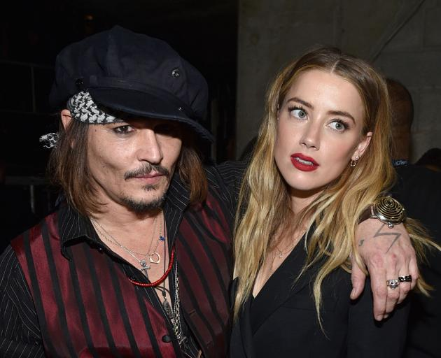 Johnny Depp and Amber Heard at the Grammy Awards in 2016. Photo: Getty Images