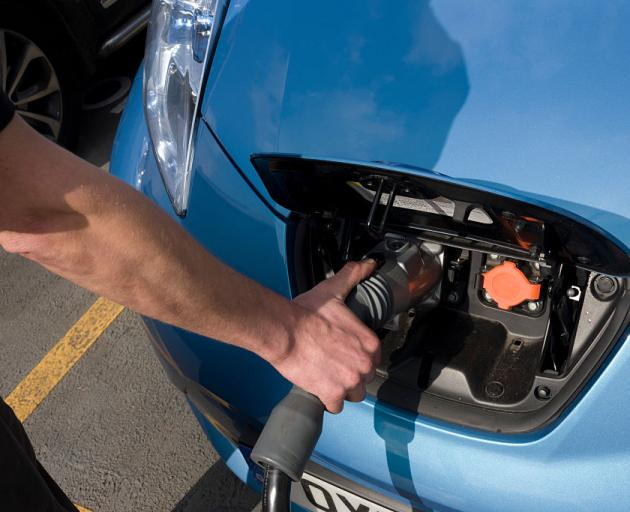Chargers for the electric cars has been part funded by EECA. Photo: Getty Images