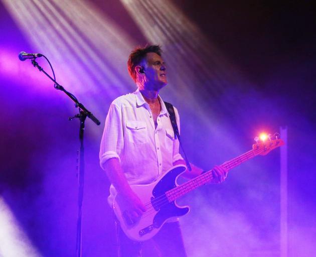 Midnight Oil bass player Bones Hillman. Photo: Getty Images