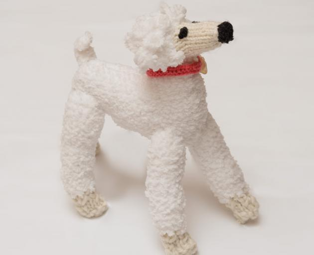 A poodle she she has knitted. Photo: Supplied