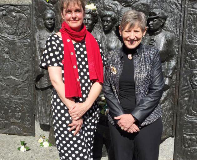 Sarah Pallett and Christchurch Mayor Lianne Dalziel. Photo: Supplied