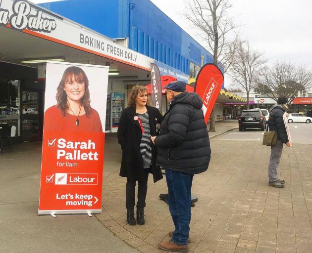 Sarah Pallett on the campaign trail. Photo: Supplied