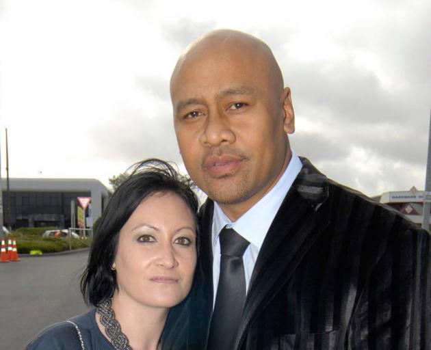 Jonah Lomu and wife Nadene in 2011. Photo: Michael Craig / NZH