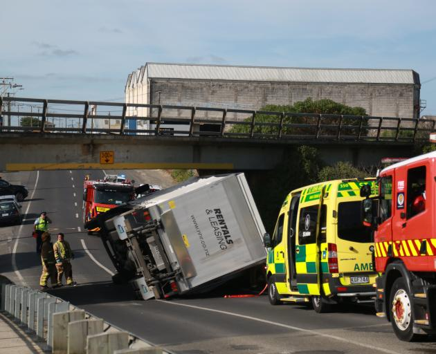 There have been several crashes or cases of trucks getting stuck under Oamaru's Humber St...