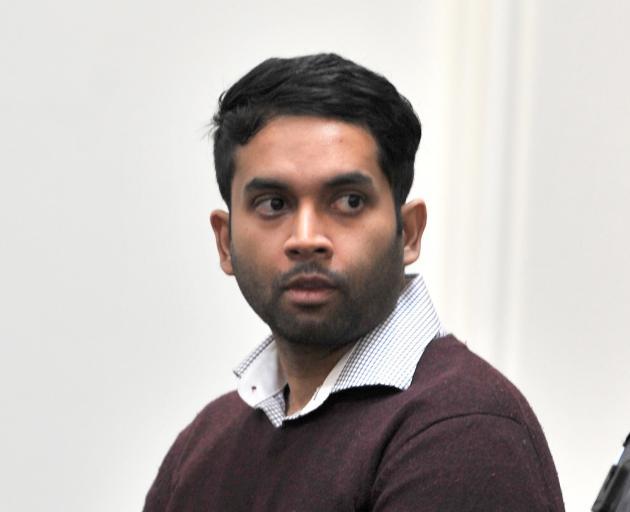 Venod Skantha appears in court on trial for murder.