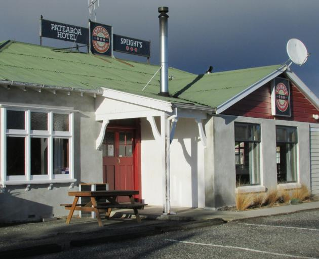 """""""A day of clouds and thick darkness"""". Zephenia 1:15. The Patearoa Hotel during its closure. PHOTO..."""