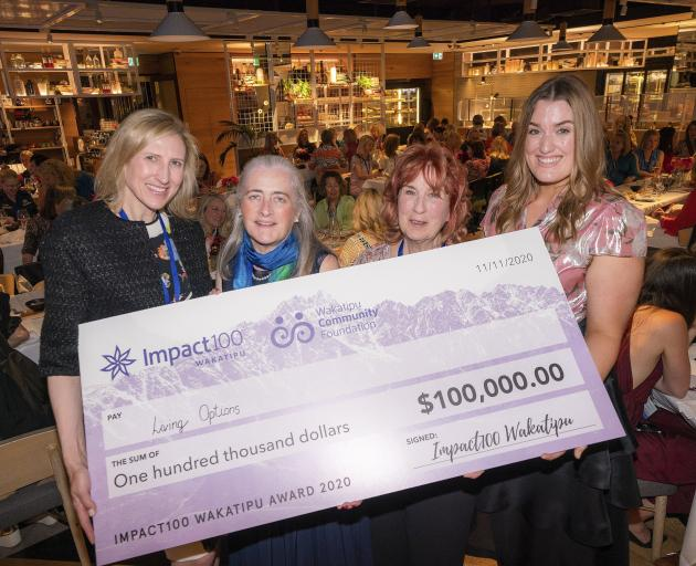 Impact100 Wakatipu founder Kristen Holtzman (left) and grants committee chairwoman Joan Kiernan,...