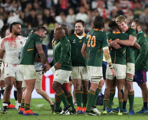 The world champion Springboks will not compete in this year's Rugby Championship. Photo: Getty...