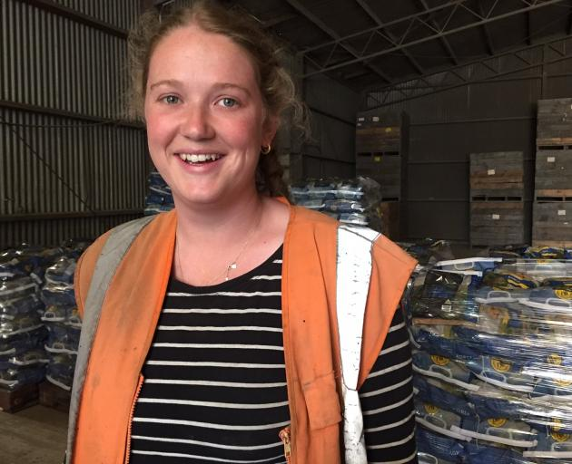 Kowhai Bush Farms operations manager Sarah Mosley in the packing shed. PHOTO: MARY-JO TOHILL
