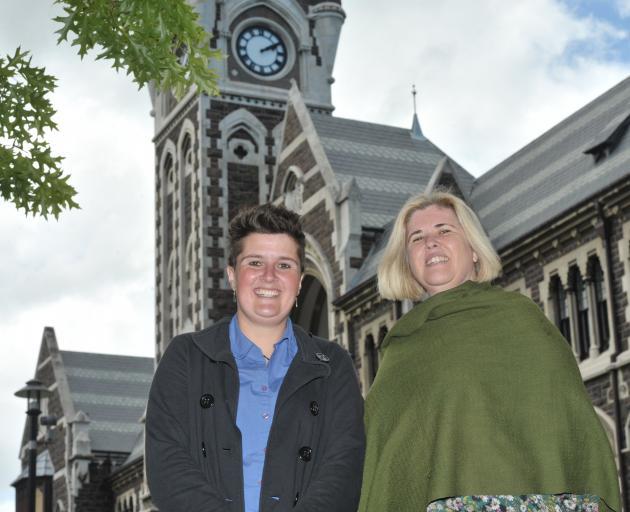 Otago University Students' Association new supervisor of the year Alana Alexander (left) and...