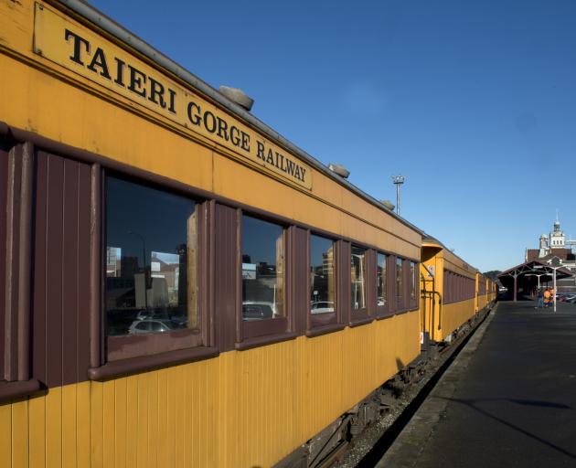 Train carriages take the platform to get some air. PHOTO: GERARD O'BRIEN