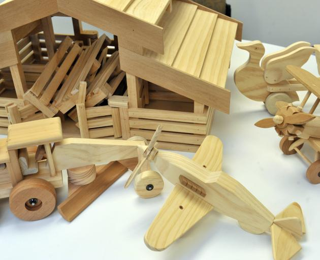 Handmade wooden toys are just some of  the items donated to Te Whare Pounamu.
