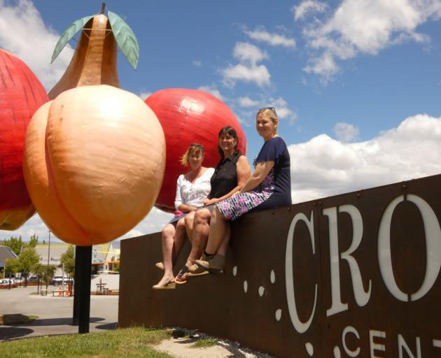 Ready for today's launch of Operation Cromwell Harvest are (from left) Jill Herron, Karen Palmer,...