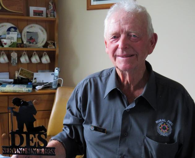 Des Syme has clocked up more than 60 years of rural fire force service. Photo: Ashburton Courier