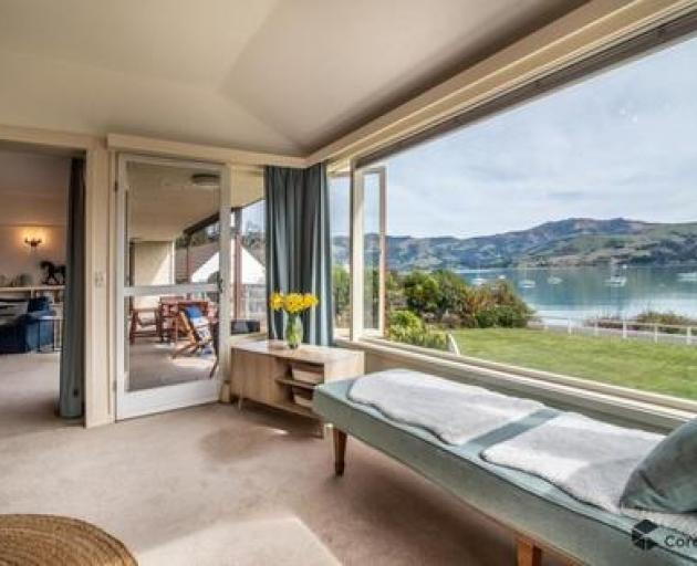 Room with a view on Beach Road, Akaroa. Photo: Supplied