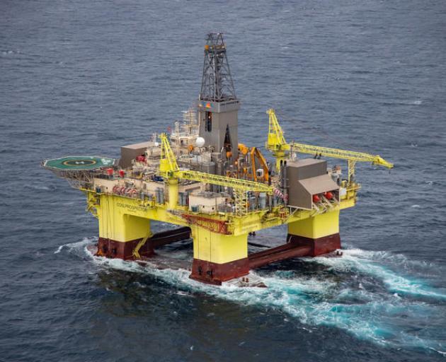 The COSL Prospector rig. Photo: Supplied/Greenpeace/Geoff Reid