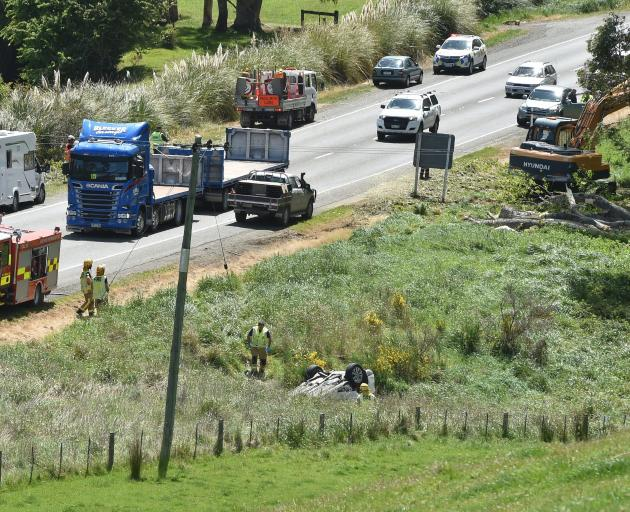 One person was killed after a tree fell on to State Highway1, south of Waikouaiti, yesterday...