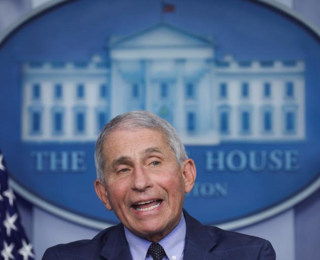 Dr Anthony Fauci, director of the National Institute of Allergy and Infectious Diseases. Photo:...