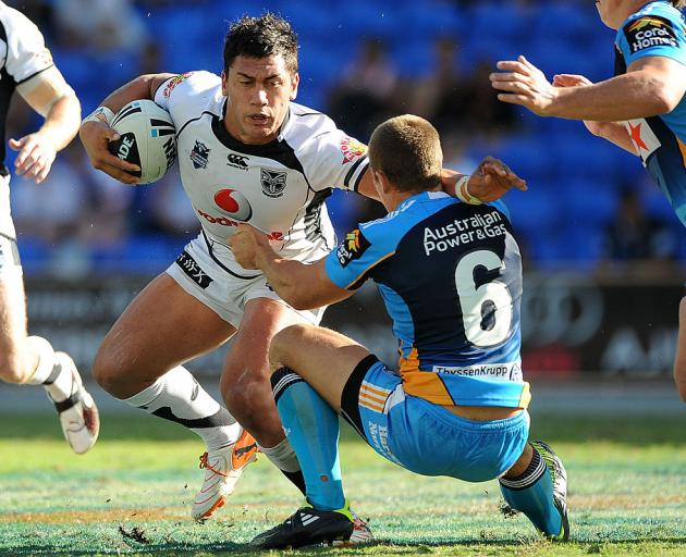 Elijah Taylor playing for the Warriors in 2011. Photo: Getty Images