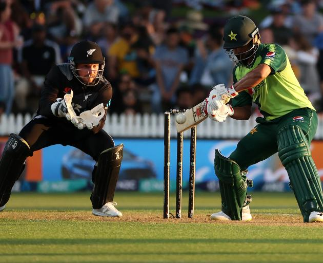 Pakistan's Mohammed Hafeez was a bright spot for the tourists, scoring 99*. Photo: Getty Images