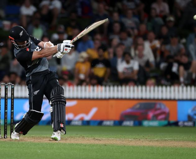 Kane Willismson returned to guide New Zealand home in a comfortable chase. Photo: Getty Images