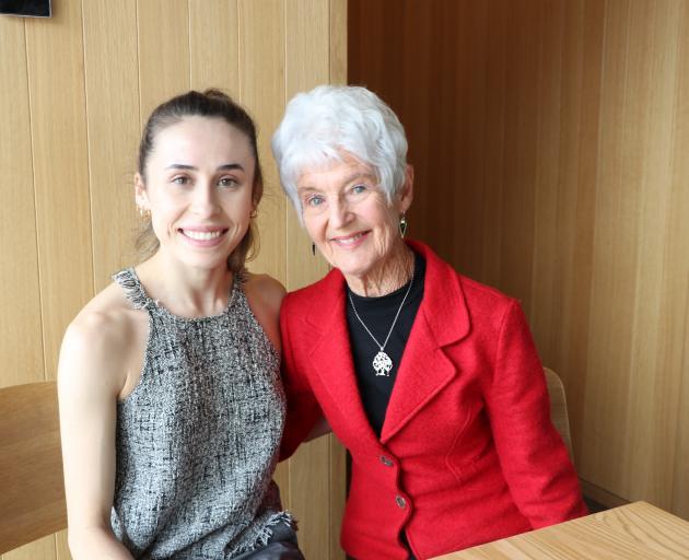 Audrey Burton with ballet dancer Madeleine Graham, of the Royal New Zealand Ballet. Photo: Supplied
