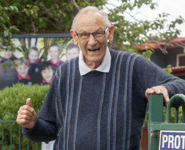 After three decades, Paparoa Street School caretaker Fred Adams is hanging up his tools. Photo:...