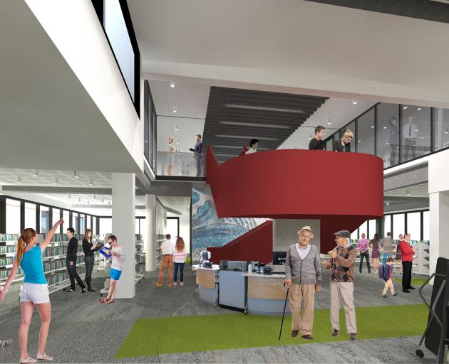 An artist's impression of the planned new library in Gore. IMAGE: SUPPLIED