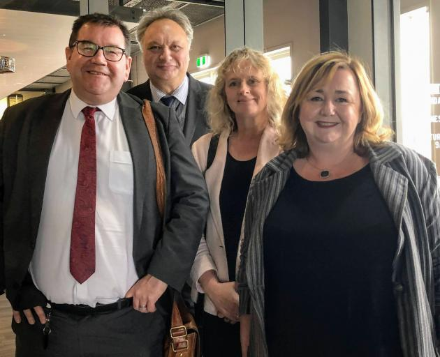 In Invercargill yesterday are (from left) Deputy Prime Minister Grant Robertson, Labour Te Tai...