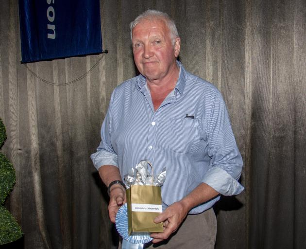 Tikana Wapiti stud owner Dave Lawrence won the reserve champion title with a head from stag Nepia...