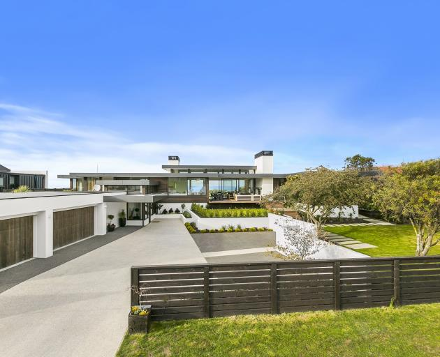The street view of the Ocean View home which won a House of the Year categories on Friday.