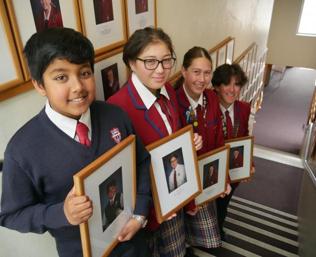 Kavanagh College high achievers (from left) Akein Wickramagedara (12), Serenity Hook (15), Ona...