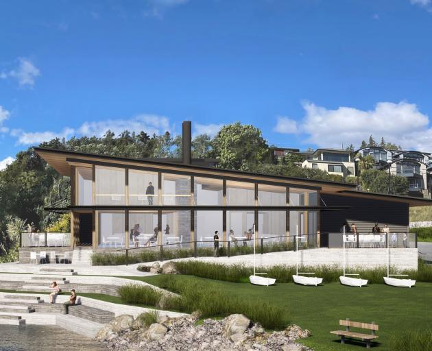 The proposed Wanaka Yacht Clubhouse. IMAGE: SUPPLIED