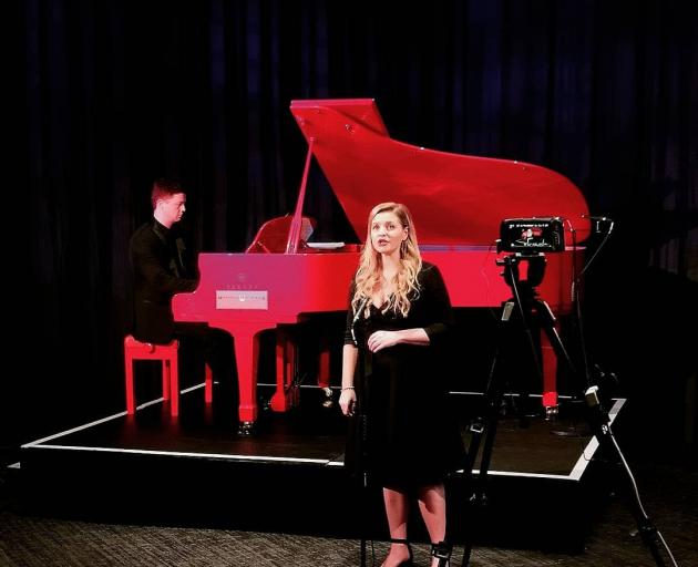 Sophie Sparrow performs during the recording of the Whanau London Voices Concert 