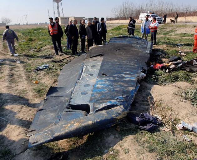 Debris of the Ukraine International Airlines, flight PS752, Boeing 737-800 plane that was shot...