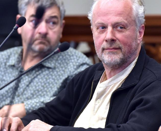 Dunedin City councillor Lee Vandervis (right) at a council meeting this year. PHOTO: PETER...